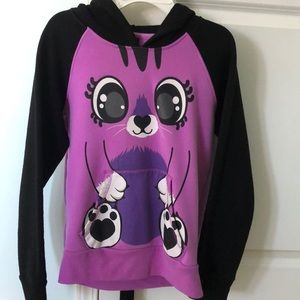 Sweaters - Purple animal sweatshirt